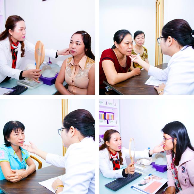 Tham gia chương trình, chị em mắccác vấn đề về da liễu còn được gặp trực tiếp bác sĩ, tư vấn miễn phí và tìm ra phương pháp cải thiện làn da.