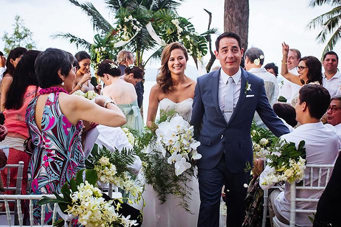 Cô dâu chú rể để khách mời được tự do thể hiện cá tính, không yêu cầu bắt buộc về màu sắc trang phục trong ngày trọng đại.
