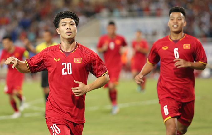 Công Phượng là cẩu thủ chơi nổi bật nhất trong chiến thắng 2-1 trước U23 Palestine. Ảnh: Đương Phạm.