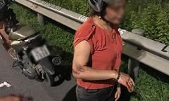 Chồng bất tỉnh, vợ thương tích khắp người vì bị cướp trên cao tốc