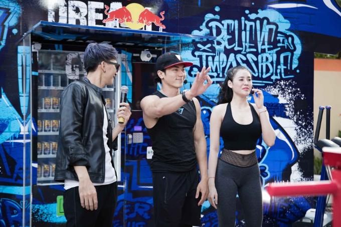 Lâm Vinh Hải, Minh Tú thử thách sức bền với máy tập gym