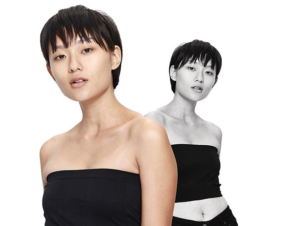 Thí sinh Hồ Thu Thanh giúp mình cá tính hơn so với dàn thí sinh nữ nhờ mái tóc tém và gương mặt ăn ảnh.