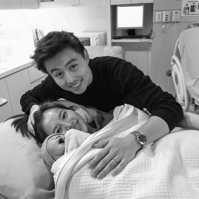 Vượt qua mối nguy hiểm, Cheryl đã sinh con trai đầu lòng vào ngày 26/4.