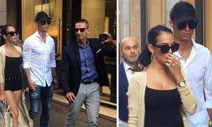C. Ronaldo đưa bạn gái đi shopping, fan thi nhau bám theo chụp ảnh
