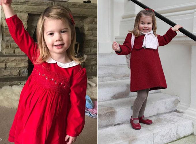 Scarlett (trái) và Công chúa Charlotte (phải) có nhiềm điểm khá tương đồng. Ảnh: Mercury Press/Kensington Palace.