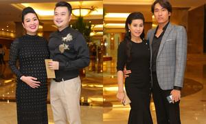 Lê Khánh bế bầu 7 tháng cùng dàn sao dự đám cưới con gái Hồng Vân