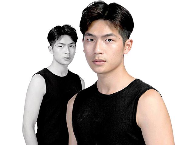 Gây được sự chú ý trong dàn mẫu trẻ là hot boy Trần Quốc Anh.