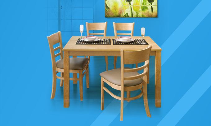 Bộbàn ăn hiện đạicho nhà bếp IBIE chỉ từ 2,99 triệu đồng. Sản phẩm có nguồn gốc từ Hàn Quốc, chất liệu gỗ cao su tự nhiên bền chắc, gia công tỉ mỉ và kết cấu chắc chắn. Có nhiều màu sắc, kích cỡ cho khách hàng lựa chọn.