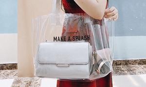 Túi trong suốt thời trang cho các nàng xuống phố