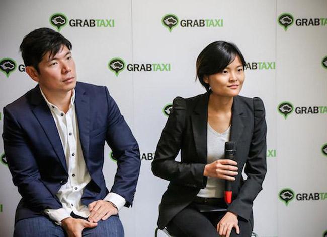 Anthony Tan và Tan Hooi Ling tại sự kiện ra mắt ứng dụng Grab ởThái Lan năm 2015. Ảnh: Forbes.