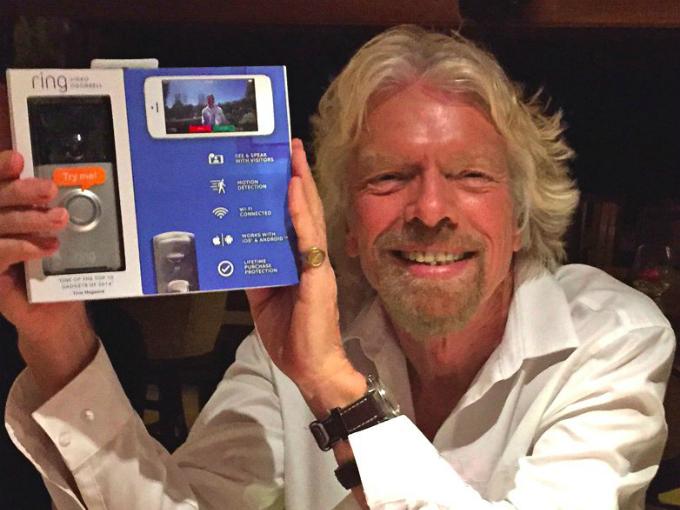 Tỷ phú Richard Branson đầu tưvào Ring sau chưa đến 48 giờ chứng kiến người bên cạnhnghe nghe điện thoại từ chuông cửa nhà. Ảnh:Ring.