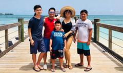 Bằng Kiều hiếm hoi cùng vợ cũ và ba con đi du lịch