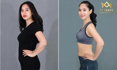 Cô giáo yoga giảm 3 size váy áo sau sinh nhờ thu gọn 22cm vòng bụng
