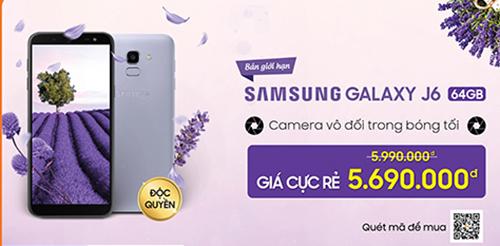 Giảm đến 300.000 đồng khi mua Galaxy J6 Lavender - 2