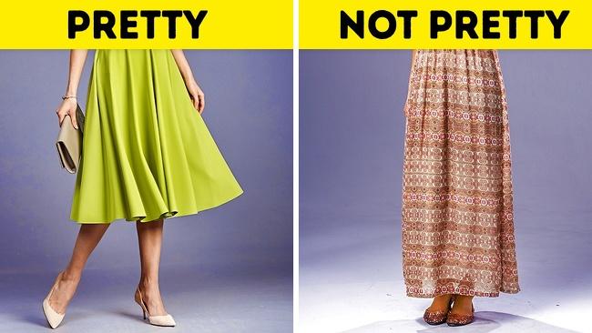 Mặc váy quá dàiNếu muốn xây dựng phong cách tươi mới, trẻ trung, phái đẹp đừng chọn váy maxi hoặc dài tới gần mắt cá. Thiết kế midi qua gối một chút là gợi ý an toàn, phù hợp nhiều dịp khác nhau.