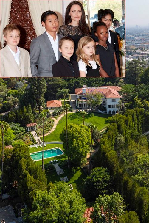 Jolie mua biệt thự mới 25 triệu USD ở Los Angeles để đưa các con ra ở riêng sau khi ly hôn.
