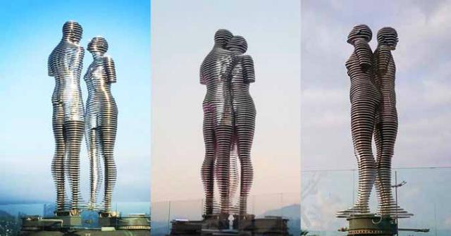 Hình ảnh bức tượng chuyển động tại Gruzia. Liên hệ hotline 1800 54 54 77 hoặc tham khảowebsite. http://www.thearena.vn/ Ảnh:Georgia Today.