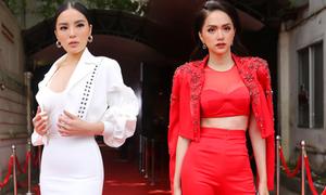 Hương Giang, Kỳ Duyên đọ vẻ gợi cảm khi đi chấm thi Siêu mẫu
