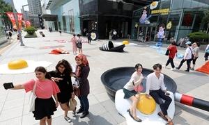 Triển lãm 'tất cả các đồ vật đều nóng chảy' ở Hàn Quốc