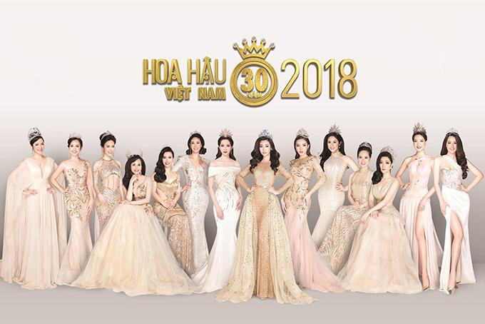 Ban tổ chức Hoa hậu Việt Nam 2018 vừa công bố bộ ảnh kỷ niệm với sự góp mặt của 14 người đẹp đăng quang qua các năm. Vì vướng bận công việc riêng, Hoa hậu Việt Nam 2000 - Phan Thu Ngân không thể tham gia sự kiện hội ngộ nhân dịp cuộc thi tròn 30 năm tổ chức.