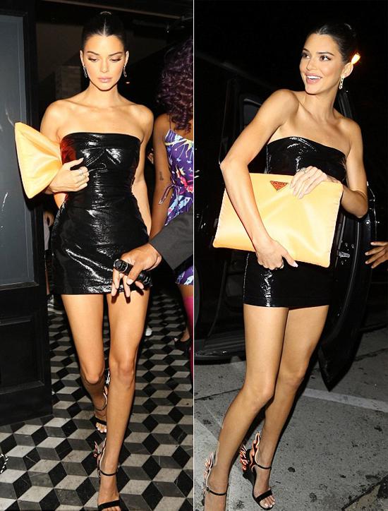 Cô chị ruột Kendall khoe chân dài với váy ngắn bó sát.