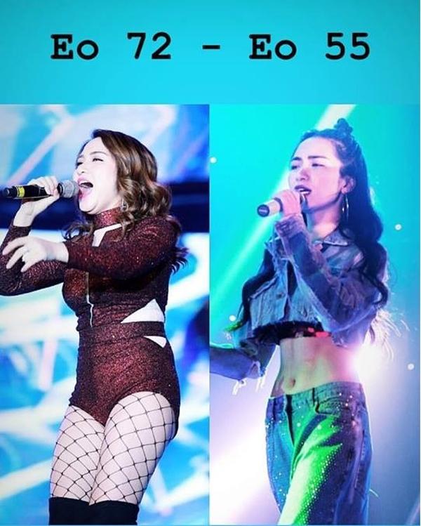 Nữ ca sĩ cũng gây bất ngờ khi tiết lộ, số đo vòng eo hiện tại của cô là 55 cm, nhỏ hơn cả vòng eo Ngọc Trinh.