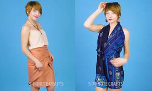6 ý tưởng biến chiếc khăn thành đủ kiểu đồ thời trang