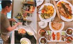 Chồng đại gia của Phan Như Thảo thích vào bếp nấu ăn phục vụ vợ con