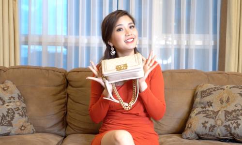 Khám phá túi: Diễm Trang mang túi hàng hiệu nhưng… không có tiền