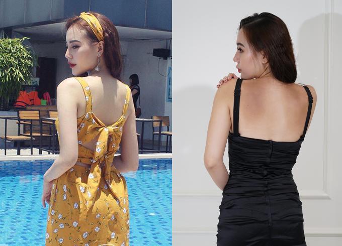 Mặc đồ sexy khoe lưng trần đẹp nhưng hậu quả là một mảng da đen sạm, khác biệt so với trước mùa hè.