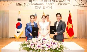 Hải Dương ký kết với loạt đối tác làm đẹp tại Hàn Quốc
