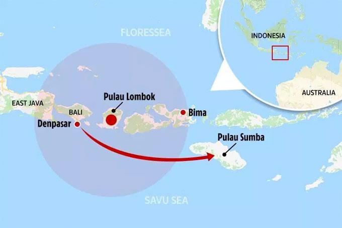 Từ Bali, nhà Becks bay chuyên cơ tới Pulau Sumba để nghỉ dưỡng.