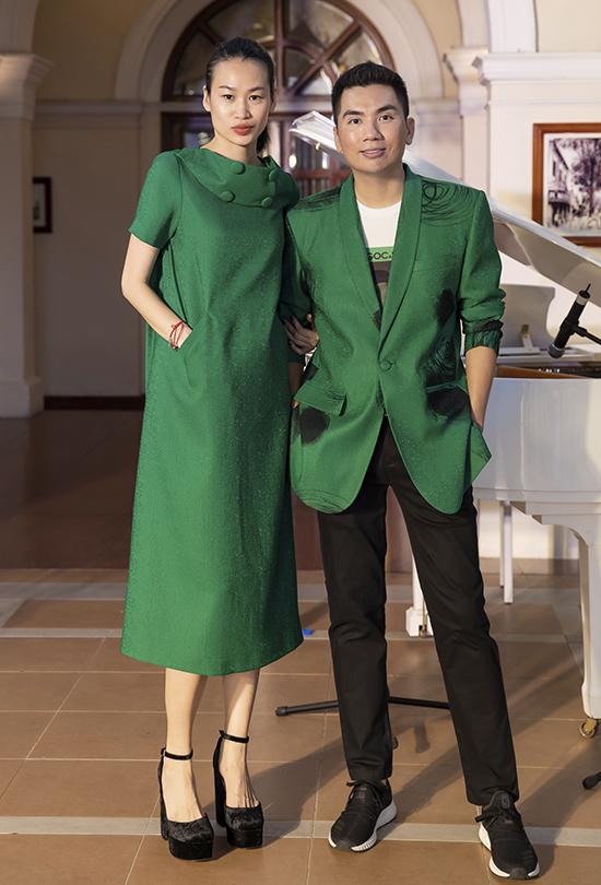 Stylist Thanh Trúc Trương và đạo diễn chương trình Nguyễn Hoàng Anh.