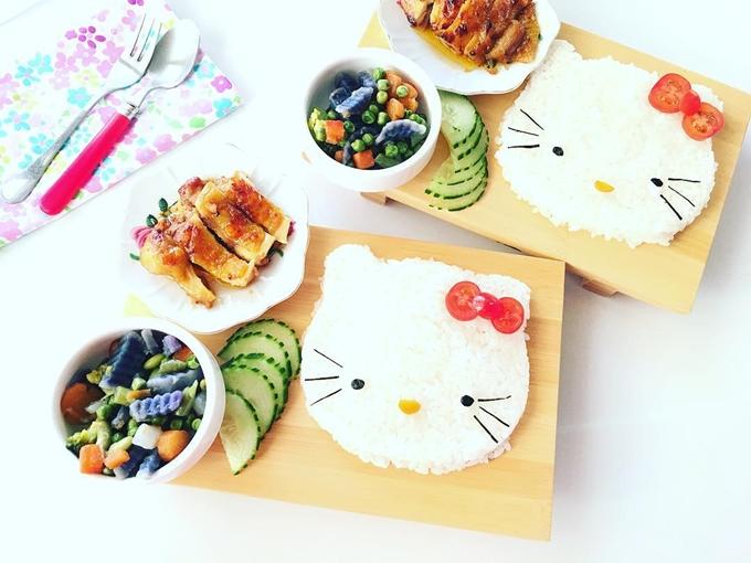 Chị Lan Lê thích nấu ăn và muốn mỗi bữa ăn của con là một trải nghiệm vui nên tìm cách sáng tạo đĩa cơm như một tác phẩm nghệ thuật.