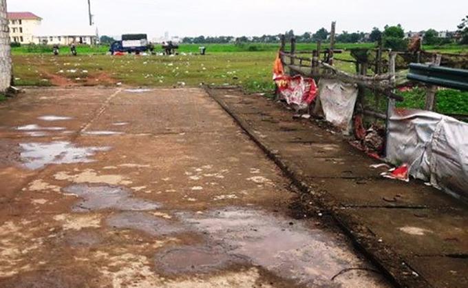 Sân bóng xã Quảng Đông, nơi xảy ra án mạng.