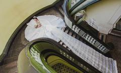 Váy cưới dài hơn 30m tại Triển lãm mua sắm cưới 2018