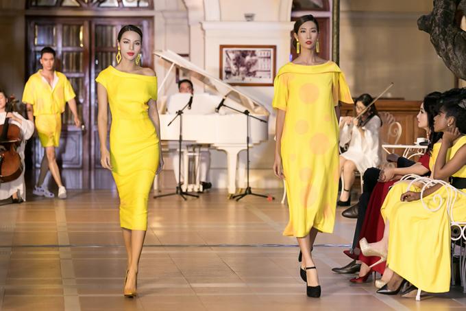 Gam màu vàng rực rỡ được ứng dụng tinh tế từ trang phục tới phụ kiện.