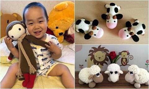 Mẹ Việt ở Nhật thức đêm làm đồ chơi bằng len móc cho con