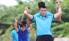 Olympic Việt Nam ra đường tập thể dục buổi sáng