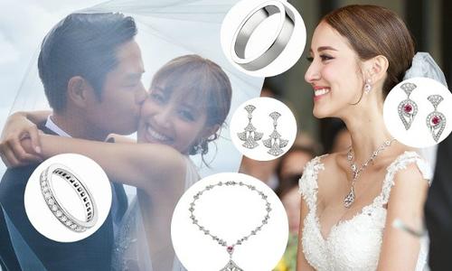Vợ Trịnh Gia Dĩnh diện hàng hiệu từ đầu đến chân trong ngày cưới