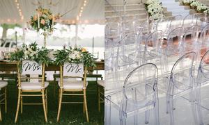 12 loại ghế và cách chọn phù hợp với từng phong cách đám cưới