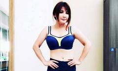 Vợ cũ Bằng Kiều khoe giảm được 5 kg trong hai tháng nhờ tập thể dục