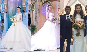 Váy cưới tối giản tôn nét gợi cảm của sao Việt
