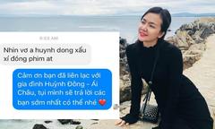 Ái Châu trải lòng khi bị fan Huỳnh Đông chê xấu