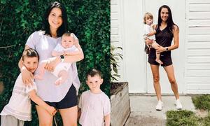 Bà mẹ ba con giảm 15 kg sau 4 tháng mà không cần đến phòng tập