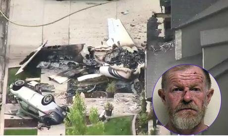 Chồng trộm máy bay đâm vào nhà để giết vợ sau cãi vã