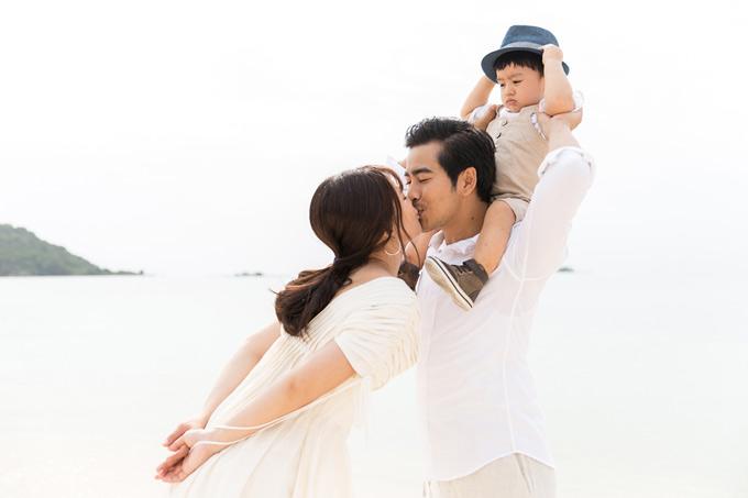 Ngọc Lan – Thanh Bình đưa con trai đi Phú Quốc nghỉ dưỡng