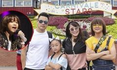 Thiên Khôi và em gái được bố mẹ hộ tống đi Hong Kong diễn