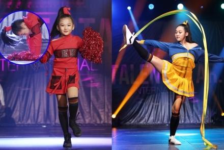 Mẫu nhí Việt nhào lộn, múa lụa khi diễn thời trang tại Hong Kong