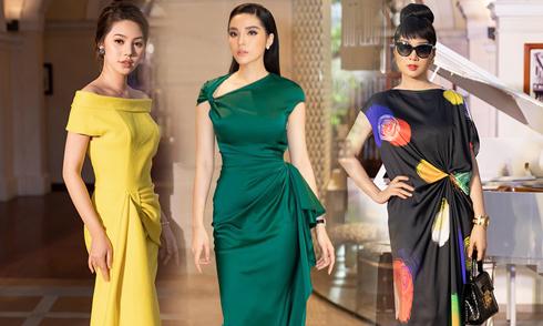 Sao Việt mê mẩn váy nhấn eo